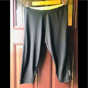 Reebok Athletic Pants Leggings Tights Black Size M
